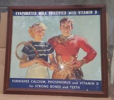 Vintage Haddon Sundblom Evaporated Milk With Vitamin D Poster