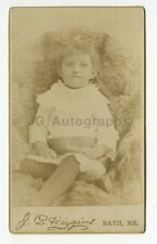 19th Century Children - 19th Century Carte-de-visite Photograph - Bath, ME