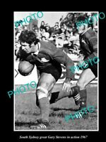 8x6 HISTORICAL RUGBY PHOTO OF SOUTH SYDNEY RABBITOHS GREAT GARY STEVENS 1967