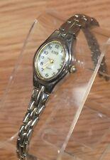 Genuine CG Women's Stainless Steel Back Metal Bezel Quartz Wrist Watch **READ**