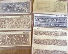 Vintage Leather Tooling Pattern Template Tooled Craft Belt Wallet Letters Design