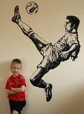 Childrens Kids Boys Football Soccer Sport Teen Teenagers Wall Stickers Decals