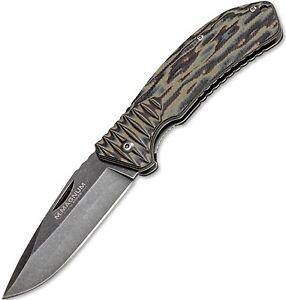 """Boker Magnum Sierra Alpha 3.375"""" Satin 440A Steel Blade G-10 Handle 01LL359 NEW"""