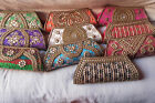 ETHNIC BEADED CLUTCH PURSE HANDMADE DESIGNER WEDDING PARTY WOMEN LADY HANDBAG