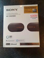 BRAND NEW Sony WF-1000XM3 Noise Cancelling True Wireless Headphones - Black