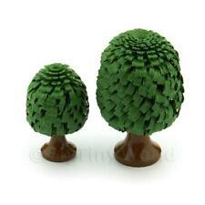 2 Maison de poupées Classique de forme vert arbres 30 et 40mm
