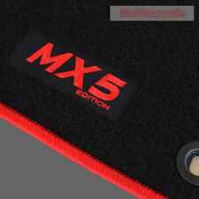 MP Velours Fußmatten Edition Logo rot für Mazda MX-5 MX5 NA ab Bj.1989 - 1998