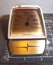 Vintage Honeywell paperweight style Desk Thermometer, works fine, 6.6 oz
