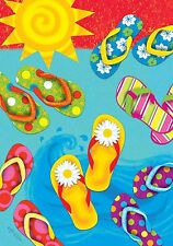 "Fun in the Sun Flip Flops Summer Garden Flag Nautical 12.5"" x 18"" Briarwood Lane"