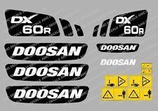 Doosan DX62R Gräber Abziehbild Set