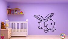 Wall Sticker Flying Elephant For Kids Children Decor For Nursery Room z1511