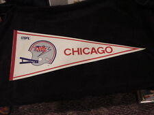 AWESOME 1982 Chicago Blitz Defunct USFL Football Pennant, SUPER NICE!