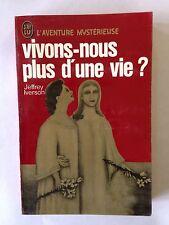 J'AI LU AVENTURE MYSTERIEUSE N° A 360 VIVONS NOUS PLUS D'UNE VIE 1978 IVERSON