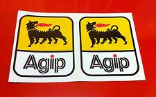 "Derbi GP50 2 x 5"" AGIP sticker decal stickers 125mm high Sponsorship Logos"