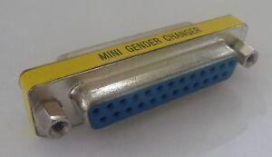 Parallel Female to Female GENDER CHANGER DB25 port Adapter Converter NEW coupler