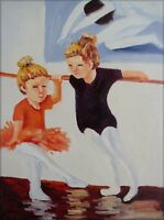 Quality Hand Painted Oil Painting Dancing Class 12x16in