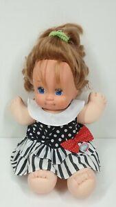 Vintage 1989 Magic Nursery Girl Toddler Doll with dress Blonde Blue Eyes Mattel