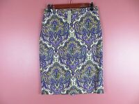 SK08918-NWT J. CREW Woman No. 2 Pencil Skirt Cotton Multi-Color Floral Sz 4 $128
