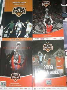Houston Dynamo 2006-09 Media Guides/Inaugrial MLS Seasons - 4 Guides Champions