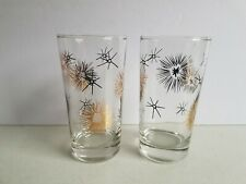 Starburst and Sunflower Lot of Tall Tumblers Cups Vintage