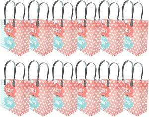 Gender Reveal Party Supplies Goody Loot Gift Bags Girl? or Boy? [12ct]