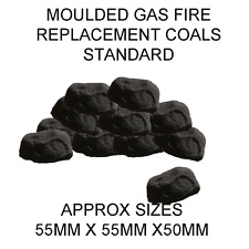 20 SMALL CAST 55 X 55 X 50MM REPLACEMENT CERAMIC COALS FOR GAS FIRE RCF Cert