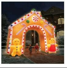 outdoor christmas inflatable gingerbread house decoration with LED light