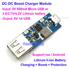 DC-DC Boost Module 3V 3.3V 3.7V 4.2V Step up to 5V 1A USB Mobile Power Charger