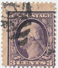 USa stamp Sc #359  Bluish Paper 3 cent George Washington Rare issue