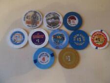 New listing 10 $1 Nevada Casino Chips (Jean 00004000 , Mesquite, Sparks, Las Vegas)