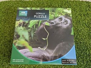 500 Piece Jigsaw BBC Earth Gorilla Puzzle Brand New & Sealed Rare