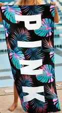 Victorias Secret PINK Beach Towel Neon Palm 2017 Boyfriend Black NEW