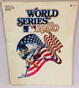 1980 MLB World Series Baseball Program Philadelphia Phillies Kansas City Royals