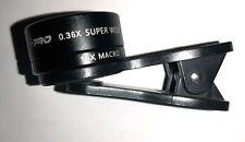 Cell Phone Clip lens Ls-Pro 0.36X 4Z606 Super Wide 15X Macro