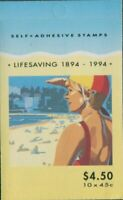 Australia booklet 1994 SG1443-1444 45c Lifesaving MNH
