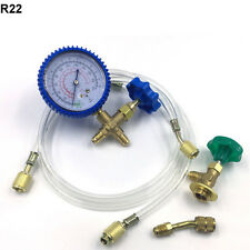 R22 Manifold Gauge Hose Kit Air Conditioner Refrigeration Couplers Set