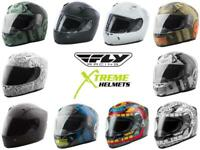 Fly Racing Revolt Helmet Clear and Smoke Shield Full Face DOT XS-2XL