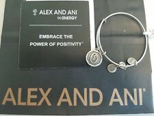 """New ALEX AND ANI Letter Initial """"O"""" Bangle Silver Tone W/Card and Bag"""