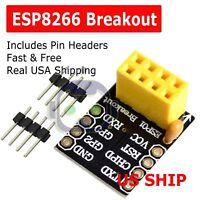 ESP8266 Serial ESP-01/01S WIFI Transceiver Adapter Module Breakout LWIP AP+STA