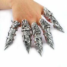 Big Dragon Unisex Full Finger Ring Claw Skull Gothic Armor Punk Knight Jewelry