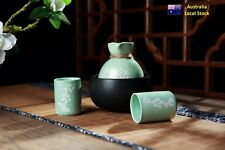 Japanese Traditional Style 4 Piece Porcelain Premium Sake Set In Luxury Gift Box
