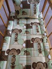 Monkeys Doll Bedding Doll Blanket & Pillow for Doll Crib Cradle 3+ Handmade NEW