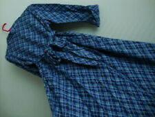 April Cornell Blue Plaid Dress New XL Large Vintage Romantic Sash Purple Bow VTG