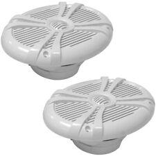 """Pair of 500 Watt White 6x9"""" 2-Way Waterproof Boat/Marine Speakers - 1000 Watts"""