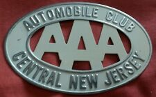 022 AAA Car Club Badge Central New Jersey Vintage Pressed Metal Cadillac Antique