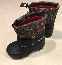 """KAMIK """"Frostfires"""" Toddler Insulated CAMO/Black Snowboots~~Size 8"""