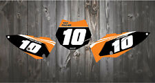 KTM SX50 SX65 2002-2019  Printed Race Number Backgrounds MOTOCROSS MX GRAPHICS