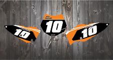KTM SX50 SX65 2002-2019 Impreso carrera número fondos Motocross MX Gráficos