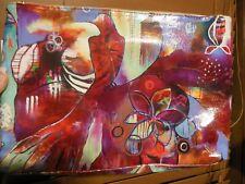 "PAPAYA ""Anahata Joy Katkin Bird"" Beauty/Cosmetic Bag Clutch EUC LG 14 X 9.5 X 2"
