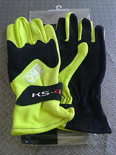 GUANTI KART OMP BAMBINO KS-4  TAGLIA 4 YELLOW KARTING RACE GLOVES CHILDREN